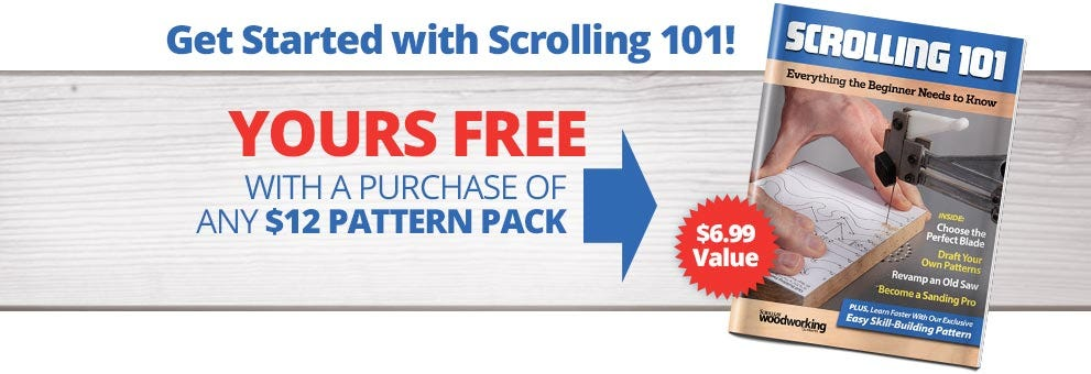 Get Started with Scrolling 101! - Yours FREE with a purchase of any $12 Pattern PACK - A $6.99 Value