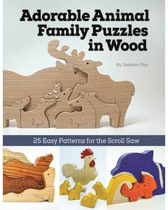 Adorable Animal Family Puzzles in Wood