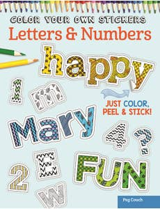 Color Your Own Stickers Letters & Numbers