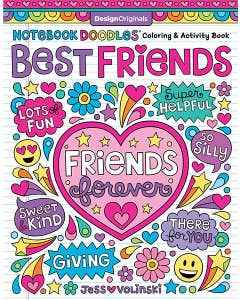 Notebook Doodles Best Friends: Coloring & Activity Book