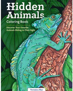 Hidden Animals Coloring Book: Discover Your Favorite Animals Hiding in Plain Sight by Veronica Hue