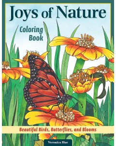 Joys of Nature Coloring Book is the perfect outlet for adults to express their creativity and find peace in the tranquility nature provides. Featuring 32 stunning line art designs of birds, wildflowers, butterflies, and more, each design includes an infor