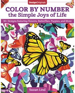 This adult coloring book is sure to spark joy, as it features more than 40 designs all of your favorite things! From birds and butterflies to Christmas ornaments and colored eggs, Color by Number the Simple Joys of Life is an easy and creative way to rela