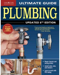 Be your own plumber and make DIY repairs and improvements! This best-selling guide on plumbing will teach you everything you need to know!