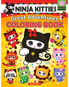 Ninja Kitties Great Adventures Coloring Book by Kayomi Harai