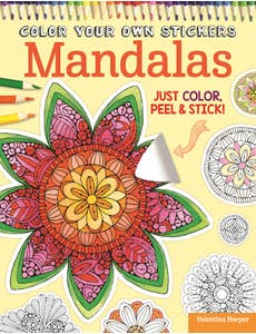 Color Your Own Stickers Mandalas