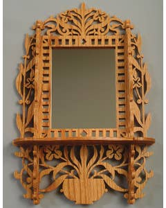 Floral Mirror with Shelf Pattern