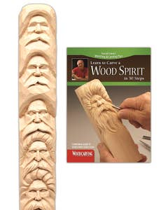 Wood Spirit Study Stick Kit Learn to Carve Faces with Harold Enlow 1