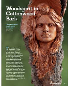 Woodcarving Illustrated Issue 91 Summer 2020 Wood Spirit - Carve an Elusive Lady of the Woods