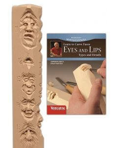 Eyes and Lips Study Stick Kit (Learn to Carve Faces with Harold Enlow)