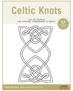 Celtic Knots Line Art Patterns - For Carving, Pyrography & Crafts - Original Patterns by Lora Irish