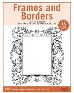 Frames and Borders Line Art Patterns - For Carving, Pyrography & Crafts - Original Patterns by Lora Irish