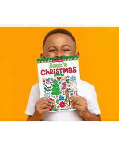Personalized Notebook Doodles® Christmas Coloring Book by Artist Jess Volinski