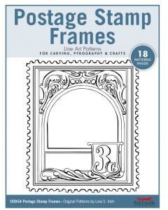 Postage Stamp Frames Line Art Patterns - For Carving, Pyrography & Crafts - Original Patterns by Lora Irish