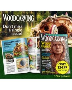 Wood Carving Illustrated Magazine Subscription - Don't Miss a Single Issue! - 1 Year | 4 Issues Only $24.9- Regularly $31.96