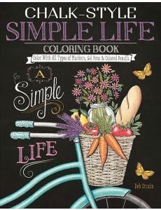 Chalk-Style_Simple_Life_Coloring_Book_0