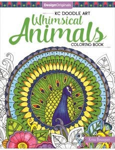 KC_Doodle_Art_Whimsical_Animals_Coloring_Book_0
