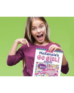 Personalized Notebook Doodles Go Girl! Coloring Book
