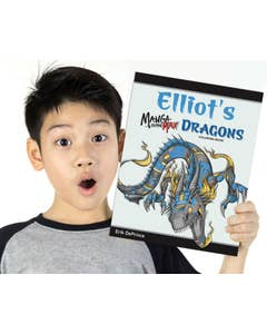 Personalized Manga to the Max Dragons Coloring Book