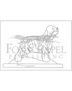 Scroll Saw Pattern - Briard Sheepdog