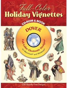 Full-Color Holiday Vignettes CD-rom & book