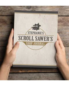 Personalized Scroll Saw Shop Journal