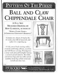 Philadelphia Chippendale With Ball & Claw Plan - Full size pattern
