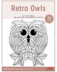 Retro Owls Pattern Pack By Lora S. Irish