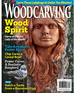 Woodcarving Illustrated Issue 91 Summer 2020,  Carve these lady bugs in under ten minutes! Wood Spirit Carve an Elusive Lady of the Woods, Chip Carve a Cereal Bowl, Power Carve a Realistic Songbird