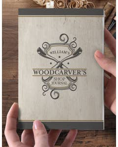 Personalized Woodcarver's Shop Journal