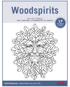Woodspirits Line Art Patterns - For Carving, Pyrography & Crafts - Original Patterns by Lora Irish