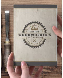 Personalized Woodworker's Shop Journal
