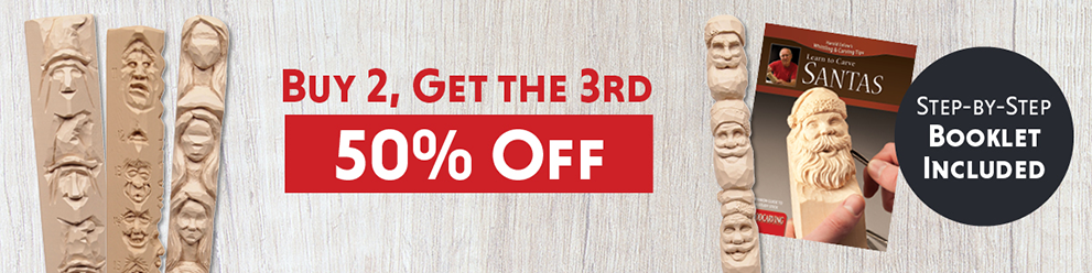 Harold Enlow - Wood Carving Study Sticks - Buy any 2, and get the 3rd 50% OFF!